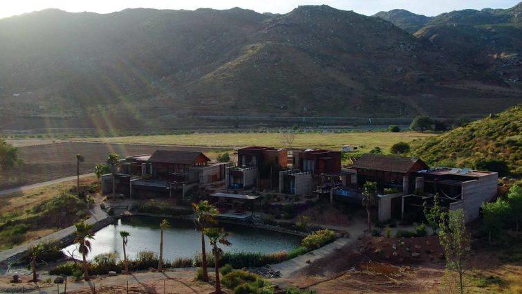 Bruma Casa 8 Valle de Guadalupe aerial